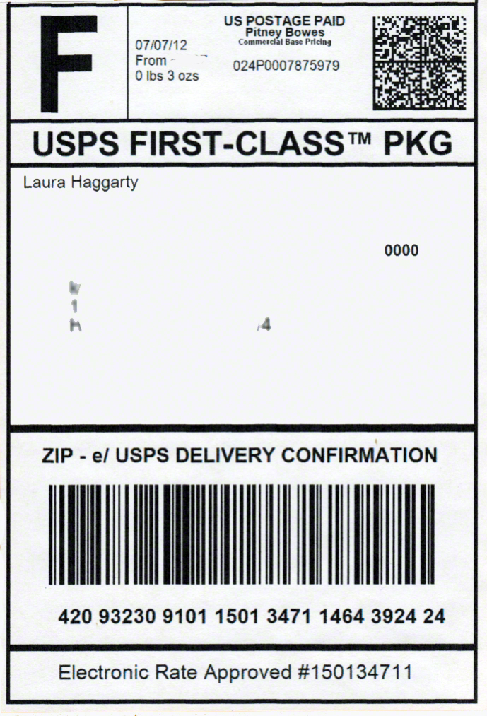 Usps shipping label template bing images for Ebay shipping label template