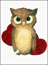 1920s Owl Card