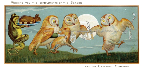 weird victorian christmas cards